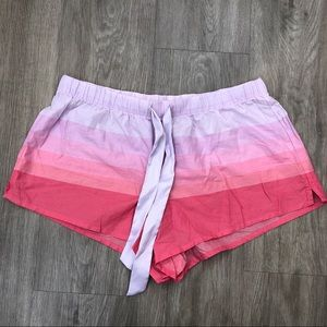 Victoria's Secret Purple & Pink Striped Shorts